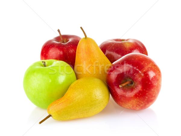 Still life pomme poire isolé blanche santé Photo stock © brulove
