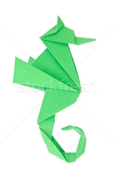 Verde origami isolato bianco mare sfondo Foto d'archivio © brulove