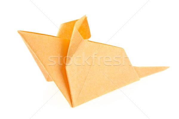 Orange mouse of origami. Stock photo © brulove