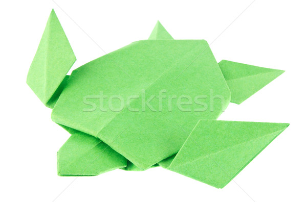 Green sea turtle of origami. Stock photo © brulove