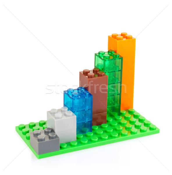 Grafiek kleur speelgoed geïsoleerd witte business Stockfoto © brulove