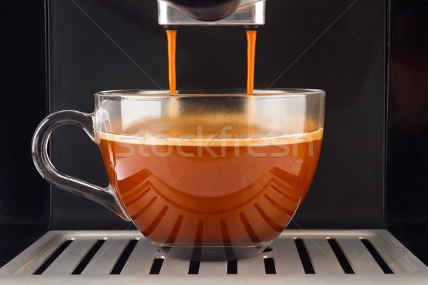 свежие кофе подготовленный эспрессо стекла Сток-фото © brulove