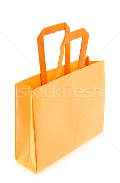 Orange shop bag of origami Stock photo © brulove