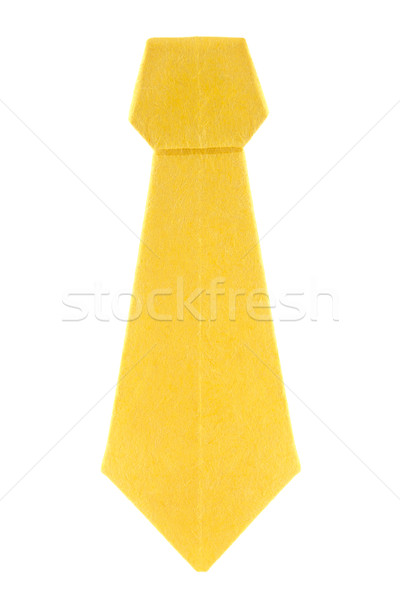 Yellow ascot (cravat) of origami. Stock photo © brulove