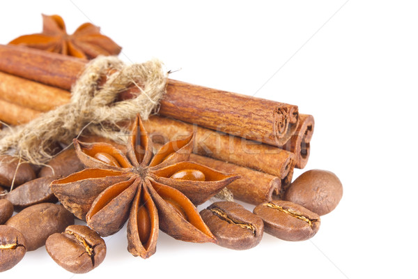 Star anise with cinnamon and coffee seed Stock photo © brulove