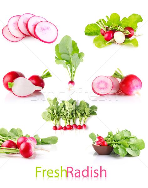 set juicy radish with green leaves Stock photo © brulove