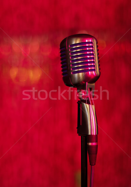 vintage microphone Stock photo © brulove