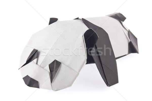 Sweetheart panda of origami Stock photo © brulove