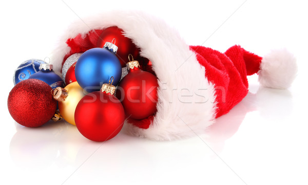 CHRISTMAS SANTA HAT full of presents Stock photo © brulove