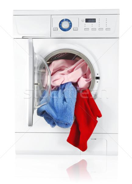 washing machine with linen Stock photo © brulove