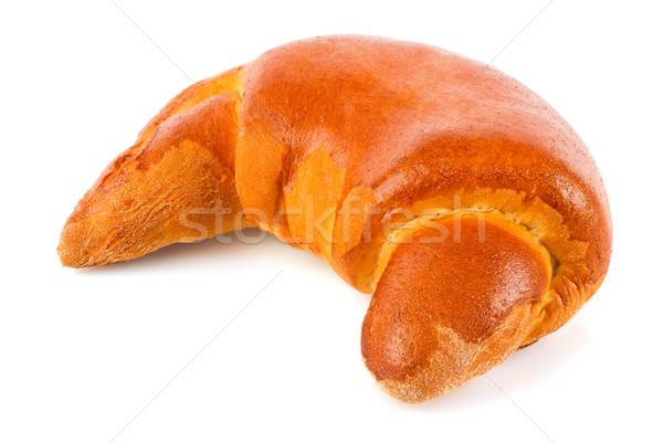 Fraîches croissant confiture isolé blanche Photo stock © brulove
