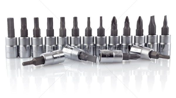 Some nozzles for a screwdriver Stock photo © brulove