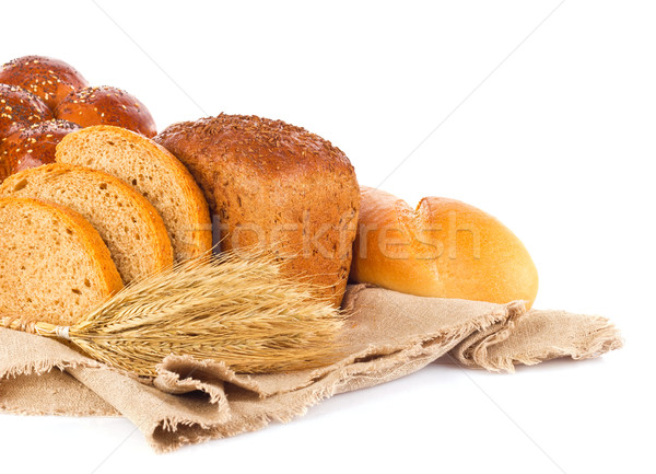 Still life of fresh baked goods and ear Stock photo © brulove