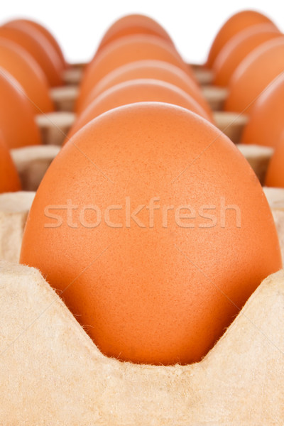 Ovo papel pacote branco laranja Foto stock © brulove