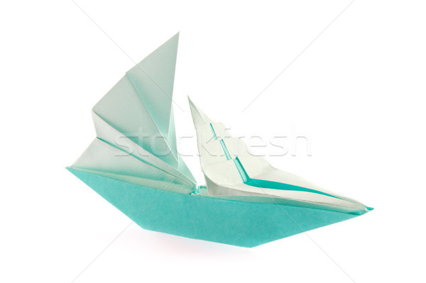 Sailing vessel of origami. Stock photo © brulove