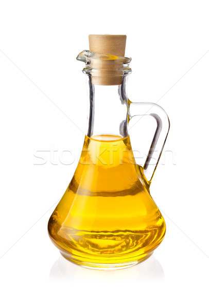 Decanter with farm organic vegetable oil Stock photo © brulove