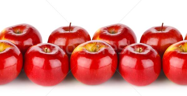 Sem costura textura maçã vermelha isolado branco fruto Foto stock © brulove