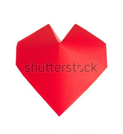 Red 3d heart of origami. Stock photo © brulove