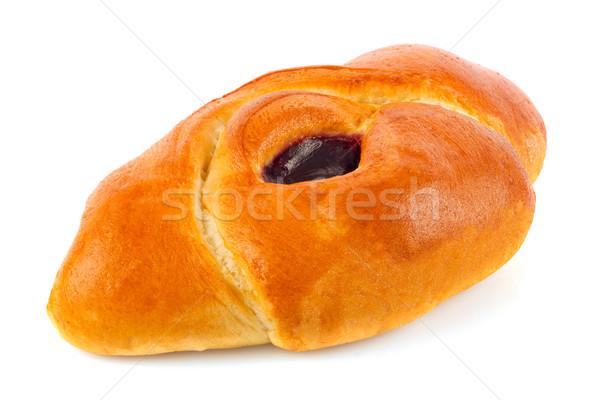 Fresh baking bun with jam. Stock photo © brulove