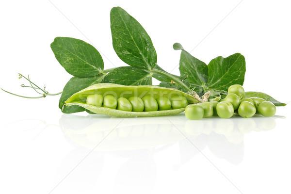 Vers groene bladeren geïsoleerd witte blad vruchten Stockfoto © brulove