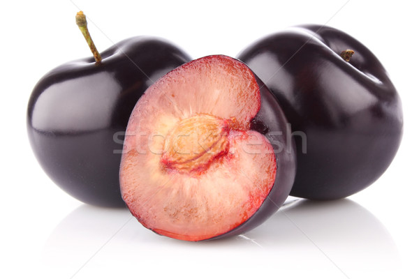ripe juicy plum Stock photo © brulove