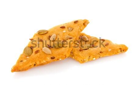 диетический Cookie семени изолированный белый продовольствие Сток-фото © brulove