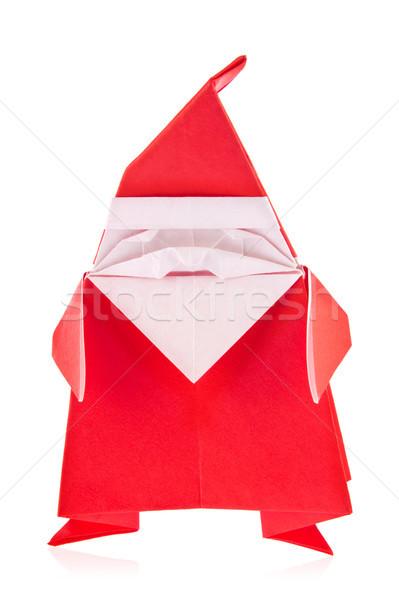 Festal Santa Claus of origami Stock photo © brulove
