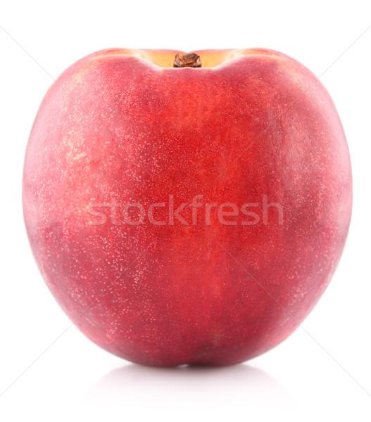 érett nektarin izolált fehér étel gyümölcs Stock fotó © brulove