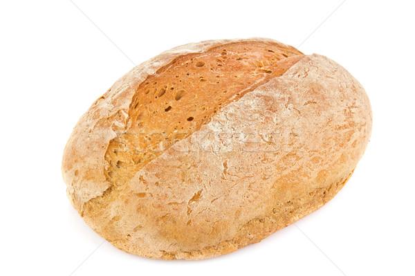 Huiselijk organisch brood geïsoleerd witte voedsel Stockfoto © brulove