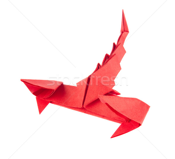 Red scorpion of origami. Stock photo © brulove