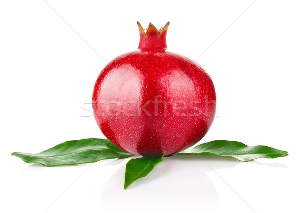 royal ripe pomegranate with green leaves Stock photo © brulove