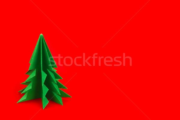 Verde origami vermelho fundo fundo Foto stock © brulove