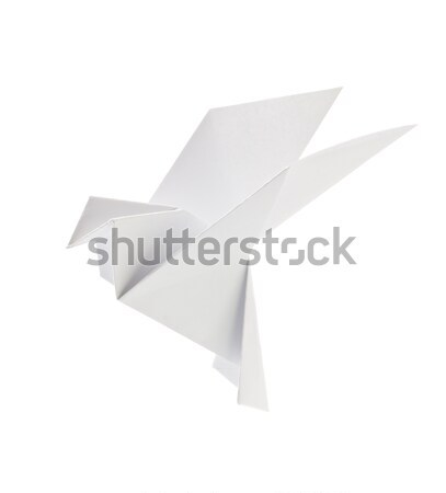 Blanche pigeon origami isolé fond art Photo stock © brulove