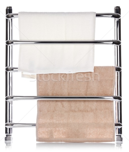 Moderna toalla rail aislado blanco pared Foto stock © brulove