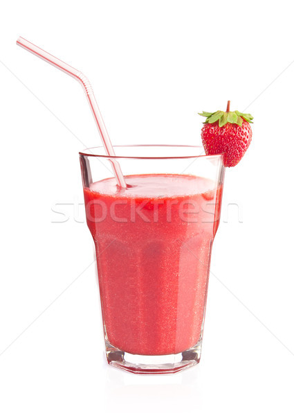 Cocktail smoothie with juicy strawberry Stock photo © brulove