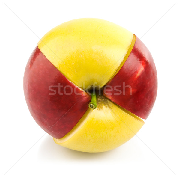 red and yellow apple cuted by part Stock photo © brulove