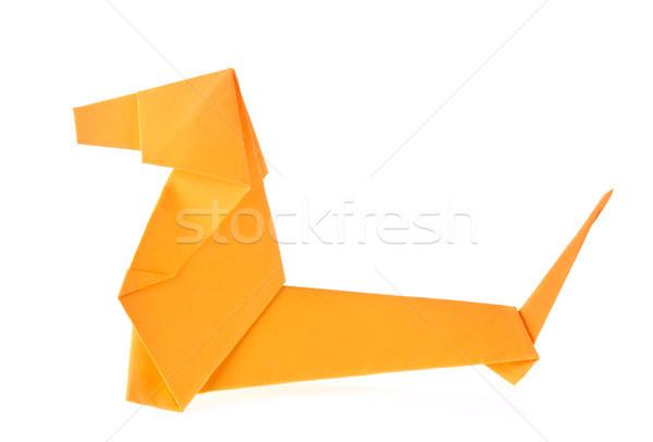 Orange Dachshund Dog Of Origami Stock Photo Iurii Brukvach