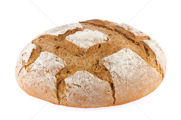 Freshly baked domestic rye bread with bran. Stock photo © brulove