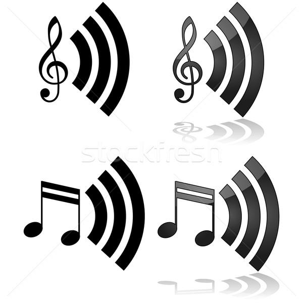 ストリーミング 音楽 アイコン 実例 することができます 中古 ストックフォト © bruno1998
