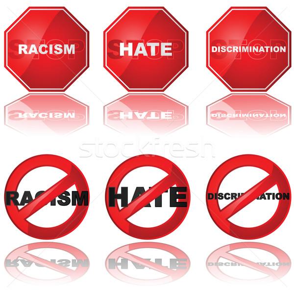 Arrêter discrimination icônes stop Photo stock © bruno1998