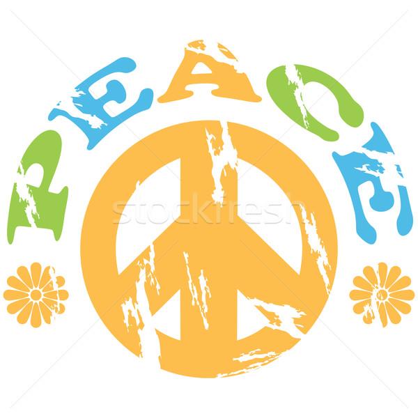 Paz 70 anos ilustração assinar palavra Foto stock © bruno1998