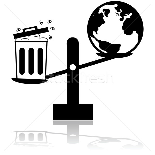 Garbage and planet scale Stock photo © bruno1998