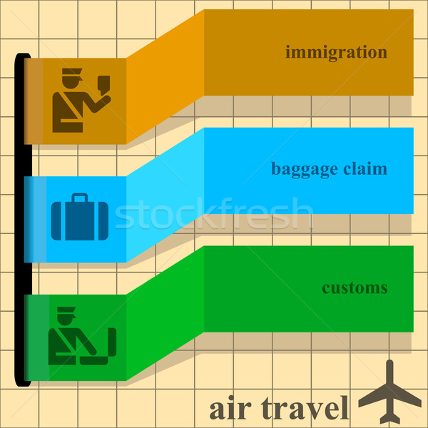 Stock photo: Air travel instructions