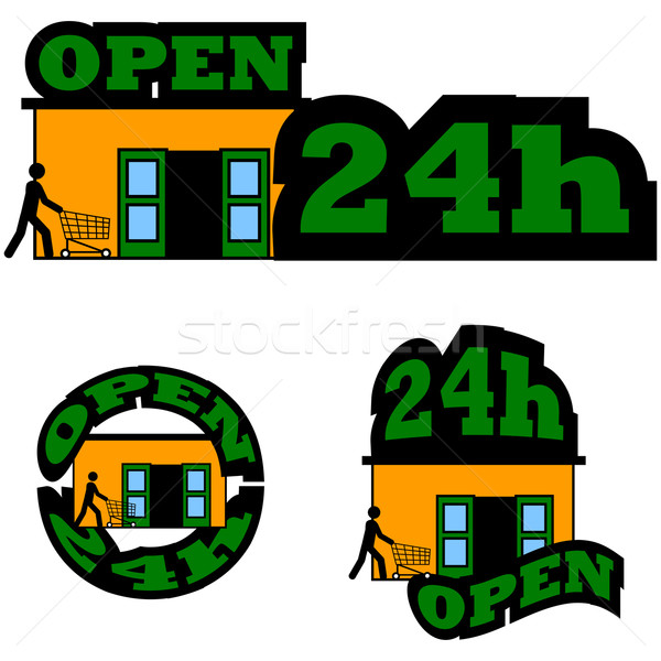 Open 24 hours Stock photo © bruno1998
