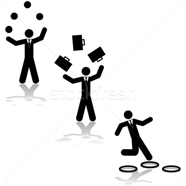 Business juggling Stock photo © bruno1998