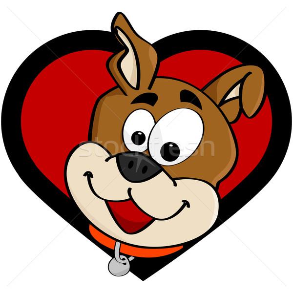 собака любви Cartoon иллюстрация счастливым Сток-фото © bruno1998