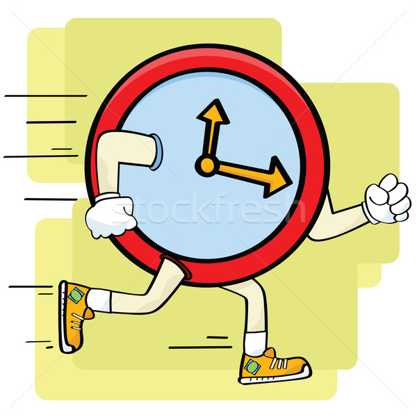 Rapide horloge cartoon illustration courir Photo stock © bruno1998