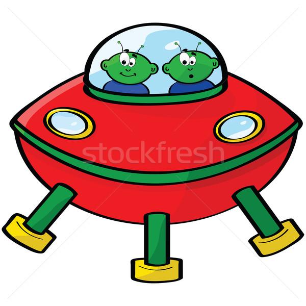 Espacio Cartoon ilustración vuelo salsa dos Foto stock © bruno1998