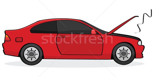 Auto rotta cartoon illustrazione open fumo Foto d'archivio © bruno1998