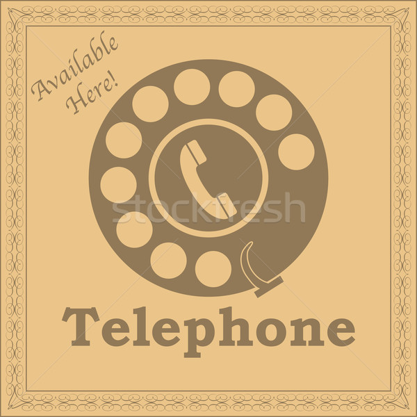 Vintage telephone sign Stock photo © bruno1998